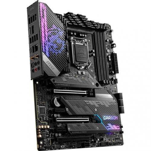 MSI MPG Z590 GAMING CARBON WIFI Desktop Motherboard   Intel Chipset   Socket LGA 1200   Intel Optane Memory Ready   ATX Alternate-Image2/500