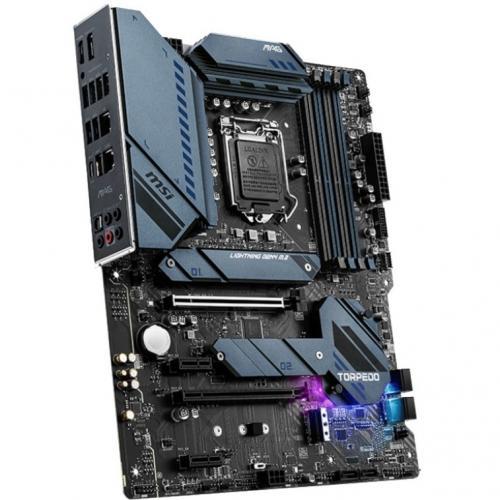 MSI MAG Z590 TORPEDO Desktop Motherboard   Intel Chipset   Socket LGA 1200   Intel Optane Memory Ready   ATX Alternate-Image2/500