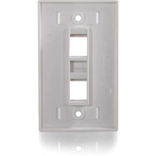C2G 2 Port Single Gang Multimedia Keystone Wall Plate   White Alternate-Image2/500