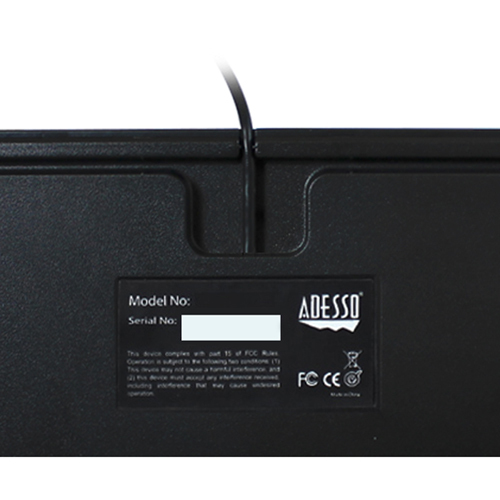 Adesso Compact Mechanical Gaming Keyboard Alternate-Image3/500