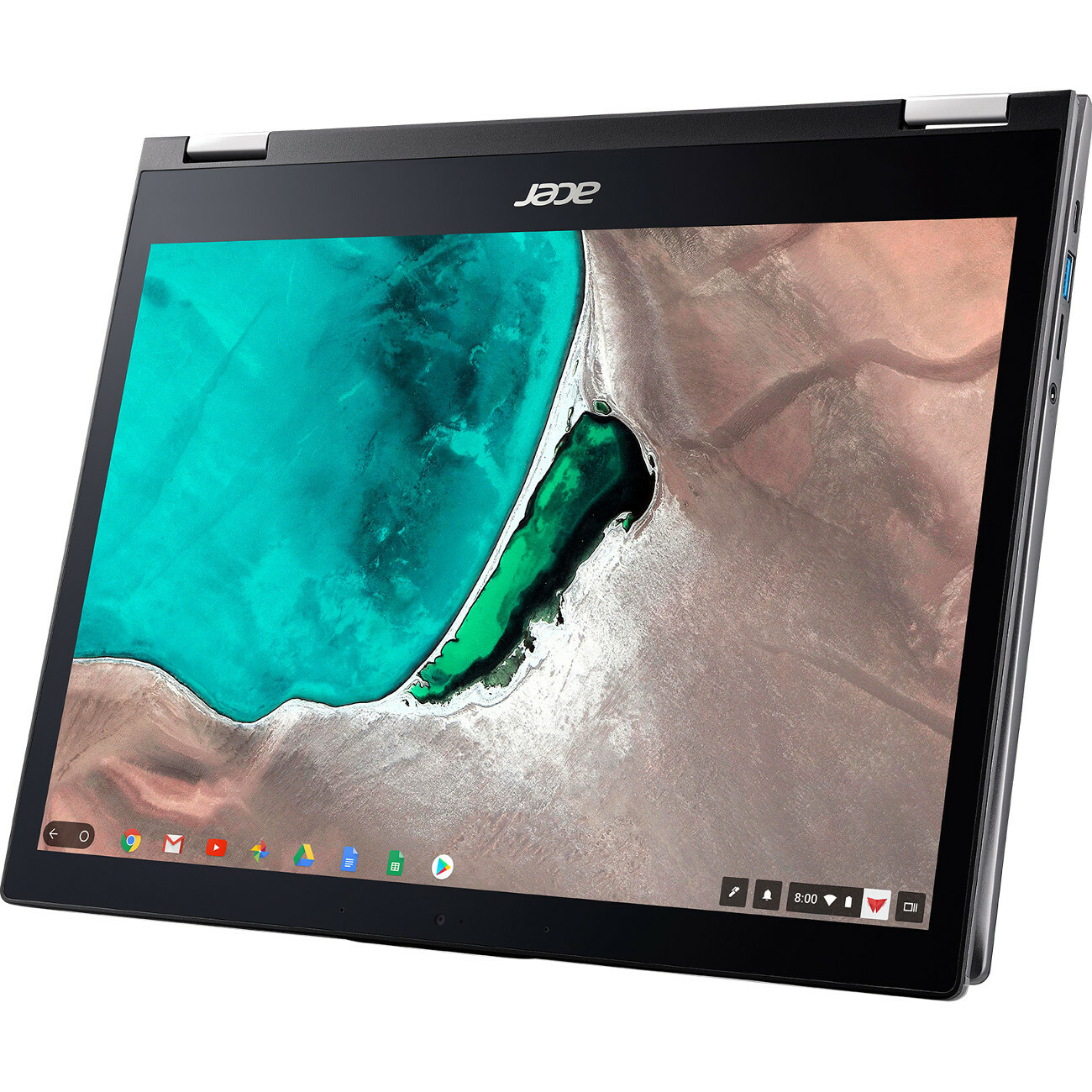 "Acer Chromebook Spin 13 CP713 1WN CP713 1WN 385L 13.5"" Touchscreen 2 In 1 Chromebook   2256 X 1504   Intel Core I3 (8th Gen) I3 8130U Dual Core (2 Core) 2.20 GHz   8 GB RAM   64 GB Flash Memory   Gray Alternate-Image3"