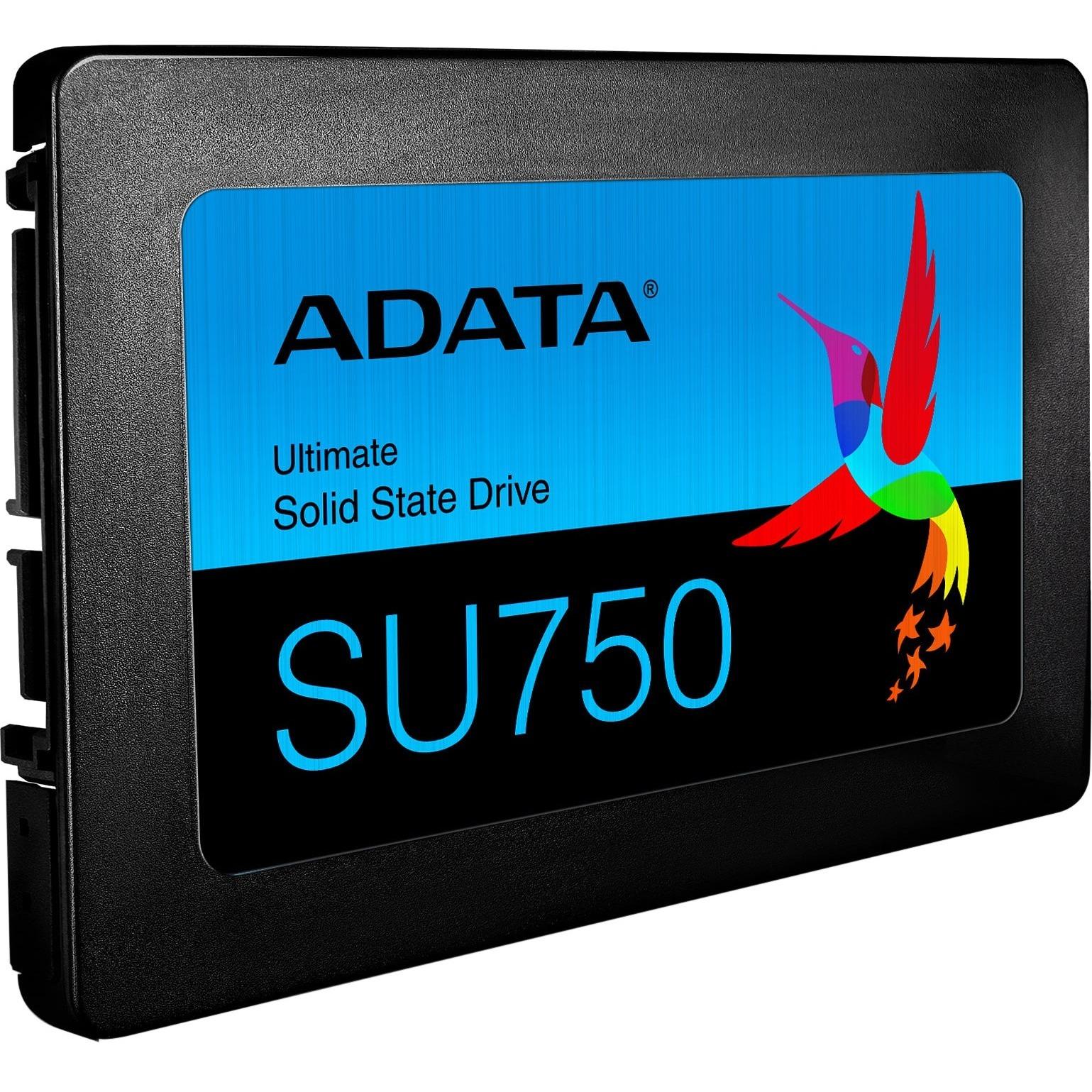 "Adata Ultimate SU750 ASU750SS 512GT C 512 GB Solid State Drive   2.5"" Internal   SATA (SATA/600)   Black Alternate-Image3"