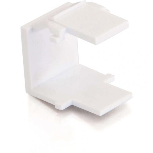 C2G Snap In Blank Keystone Insert Module   White Alternate-Image3/500