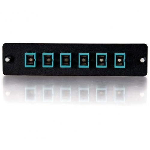 C2G Q Series 6 Strand, SC, PB Insert, MM, Aqua SC Adapter Panel Alternate-Image3/500