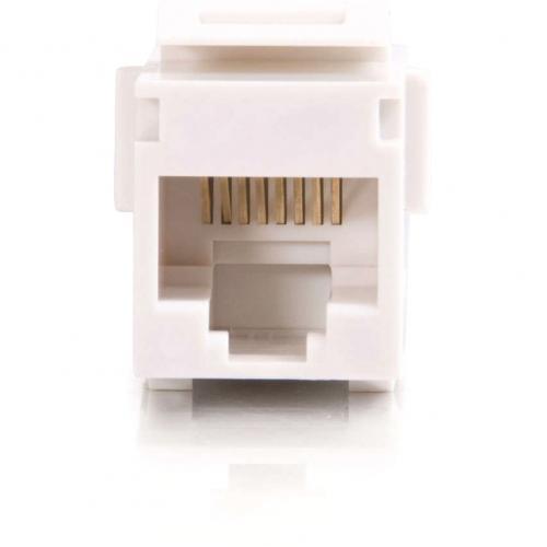 C2G RJ45 (8P8C) Coupler Keystone Insert Module   White Alternate-Image3/500