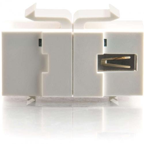 C2G Snap In USB A/B Female Keystone Insert Module   White Alternate-Image3/500