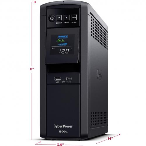 CyberPower CP1500PFCLCD UPS 1500VA 900W PFC Compatible Pure Sine Wave Alternate-Image3/500