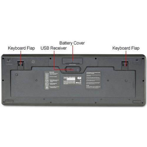 Adesso Wireless SlimTouch Desktop Touchpad Keyboard Alternate-Image3/500