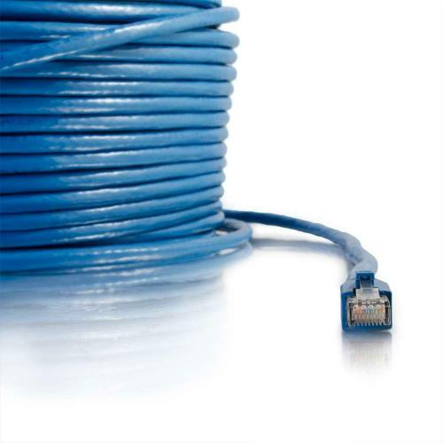 C2G 200 Ft Cat6 Snagless Solid Shielded Network Patch Cable   Blue Alternate-Image3/500