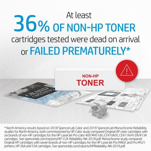 HP HEWCE410AG 305A Toner Cartridge Black Laser, Standard Yield 2200 Page Alternate-Image3/500