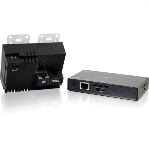 C2G HDMI And VGA + Stereo Audio HDBaseT Over Cat Extender White Wall Plate Transmitter To HDMI Box Receiver Alternate-Image3/500
