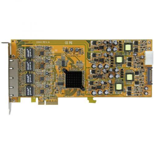 StarTech.com 4 Port Gigabit Power Over Ethernet PCIe Network Card   PSE / PoE PCI Express NIC Alternate-Image3/500
