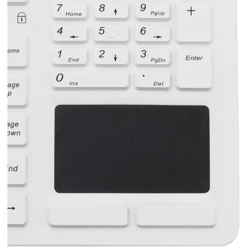 Adesso SlimTouch 270   Antimicrobial Waterproof Touchpad Keyboard (White) Alternate-Image3/500