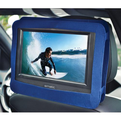 """Ematic EPD116 Portable DVD Player   10"""" Display   1024 X 600   Blue Alternate-Image3/500"""