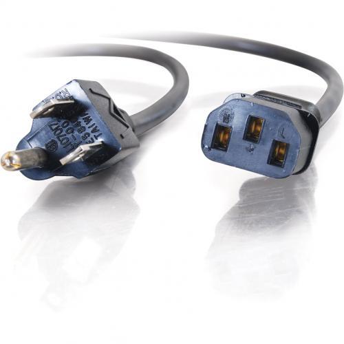 C2G 1ft 18 AWG Universal Power Cord (NEMA 5 15P To IEC320C13) Alternate-Image3/500