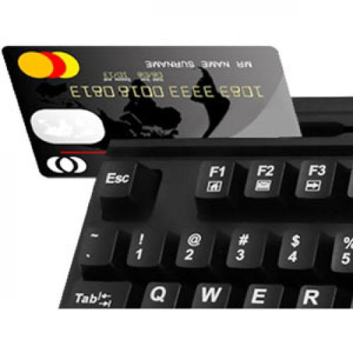 Adesso EasyTouch 630RB   Smart Card & Magnetic Stripe Reader Keyboard Alternate-Image3/500