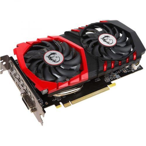 MSI Gaming X GeForce GTX 1050 Ti Graphics Card     4GB 128 Bit GDDR5   TORX Fan 2.0   1.49 GHz Boost Clock   NVIDIA GameWorks Technology   DirectX 12 Features Alternate-Image3/500