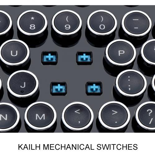 Adesso AKB 636UB Desktop Mechanical Typewriter Keyboard Alternate-Image3/500