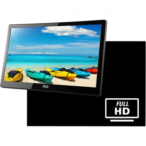 "AOC I1659FWUX 15.6"" Full HD WLED LCD Monitor   16:9   Glossy Piano Black Alternate-Image3/500"