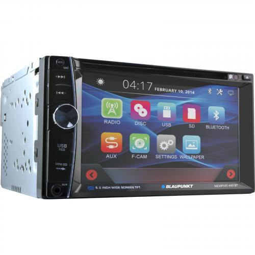 """Blaupunkt MMP440 Car DVD Player   6.2"""" Touchscreen LCD   Double DIN Alternate-Image3/500"""