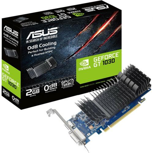 Asus GT1030 2G CSM GeForce GT 1030 Graphic Card   2 GB GDDR5   Low Profile Alternate-Image3/500