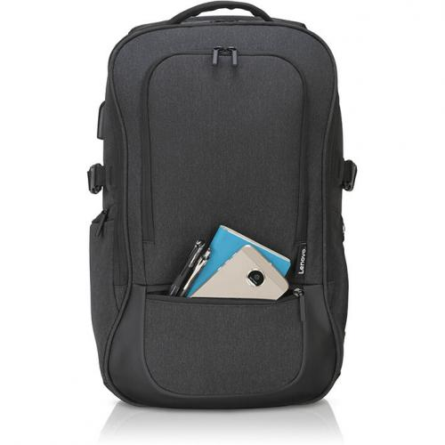 """Lenovo Passage Carrying Case (Backpack) For 17"""" Notebook   Charcoal Alternate-Image3/500"""