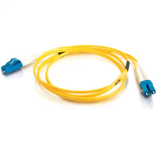 C2G 2m LC LC 9/125 Duplex Single Mode OS2 Fiber Cable   Yellow   6ft Alternate-Image3/500