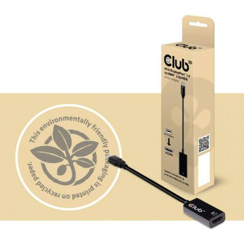 Club 3D Mini DisplayPort 1.4 To HDMI 2.0a HDR Alternate-Image3/500
