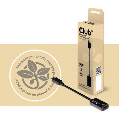 Club 3D DisplayPort 1.4 To HDMI 2.0a HDR Alternate-Image3/500
