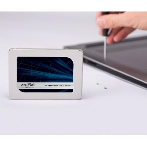 "Crucial MX500 250 GB Solid State Drive   2.5"" Internal   SATA (SATA/600) Alternate-Image3/500"