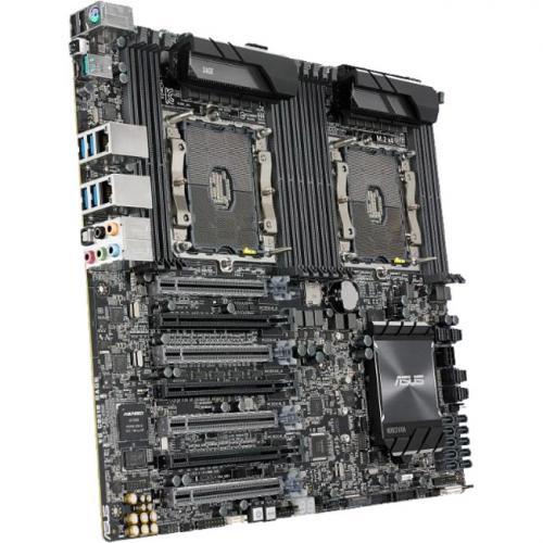 Asus WS C621E SAGE Workstation Motherboard   Intel Chipset   Socket P LGA 3647   SSI EEB Alternate-Image3/500