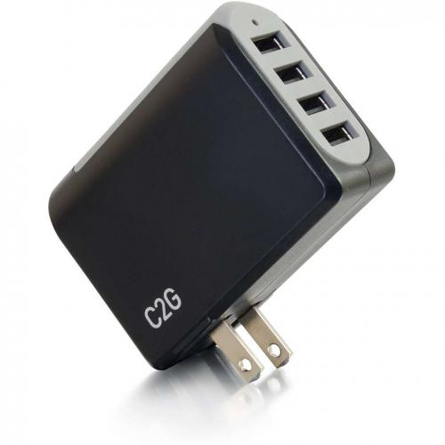 C2G 4 Port USB Wall Charger   AC To USB Adapter, 5V 4.8A Output Alternate-Image3/500