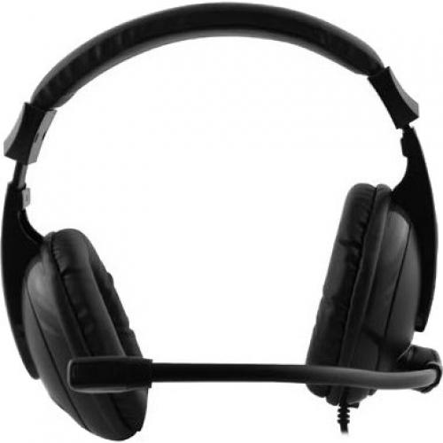 Adesso Xtream H5 Multimedia Headset With Built In Microphone Black   6 Ft Cable Length   3.5mm Audio Jack   Stereo Sound Mode   Omni Directional Microphone Alternate-Image3/500