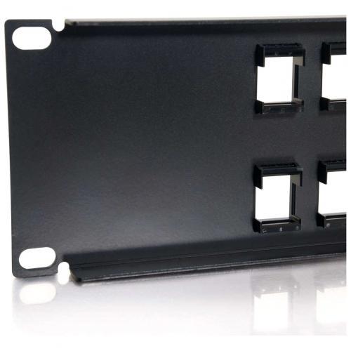 C2G 24 Port Blank Keystone/Multimedia Patch Panel Alternate-Image3/500