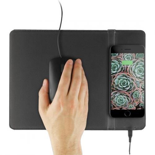 Aluratek Qi Wireless 10W Charging Mouse Pad Alternate-Image3/500