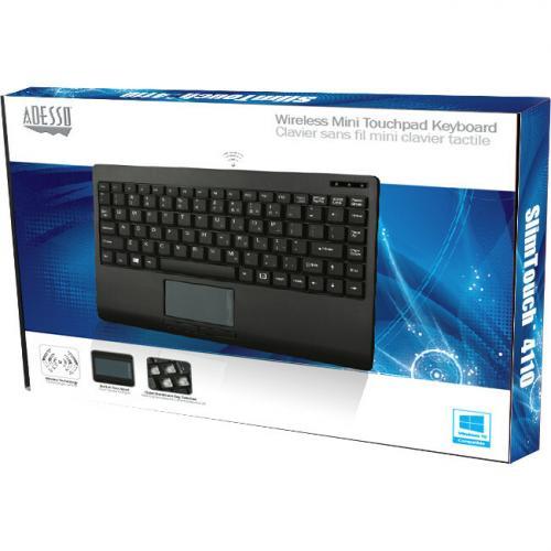 Adesso Wireless Mini Touchpad Keyboard Alternate-Image3/500