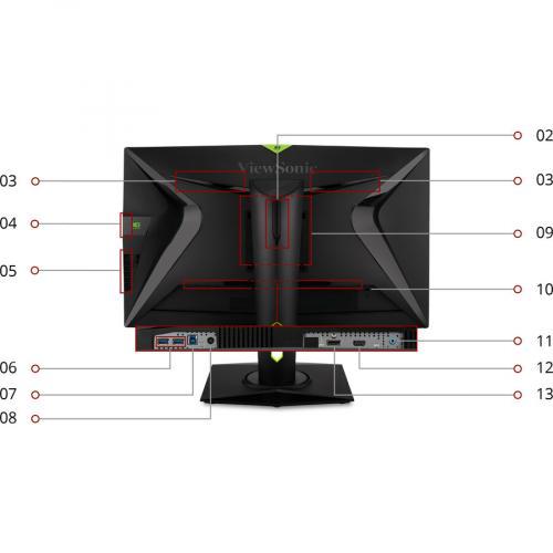 "Viewsonic XG2760 27"" WQHD WLED Gaming LCD Monitor   16:9 Alternate-Image3/500"
