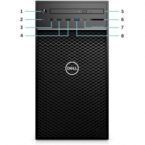 Dell Precision 3630 Workstation Intel Core I7 16GB RAM 1TB HDD 256GB SSD   8th Gen I7 8700K Hexa Core   NVIDIA Quadro P1000 4 GB Graphics   Intel Optane Memory Ready   Tower Form Factor   Windows 10 Pro Alternate-Image3/500