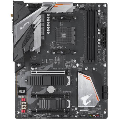 Aorus Ultra Durable B450 AORUS PRO WIFI Desktop Motherboard   AMD Chipset   Socket AM4   ATX Alternate-Image3/500