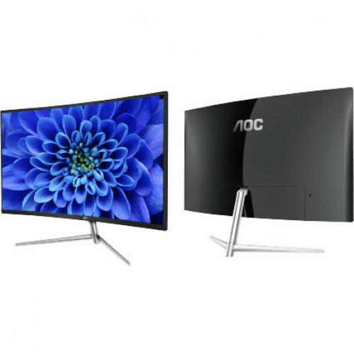 "AOC C32V1Q 31.5"" Full HD Curved Screen LCD Monitor   16:9   Black, Silver Alternate-Image3/500"
