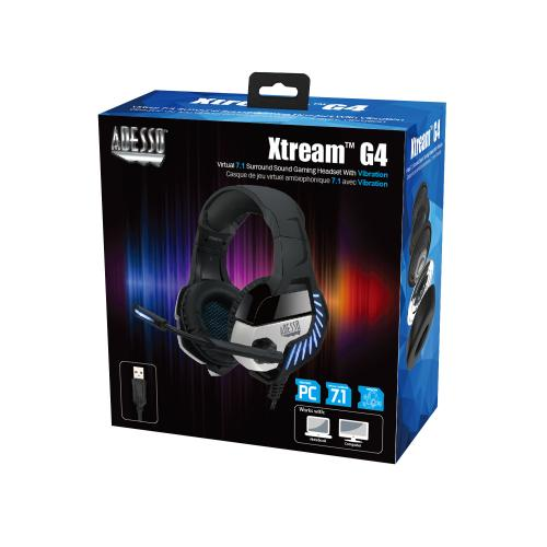 Adesso Virtual 7.1 Surround Sound Gaming Headset With Vibration Alternate-Image3/500