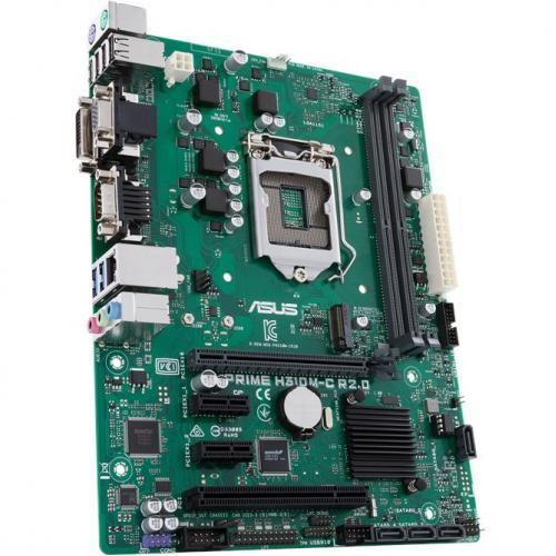Asus Prime H310M C R2.0/CSM Desktop Motherboard   Intel Chipset   Socket H4 LGA 1151 Alternate-Image3/500