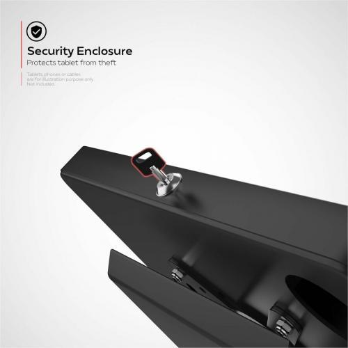 CTA Digital Premium Locking Floor Stand Kiosk Alternate-Image3/500