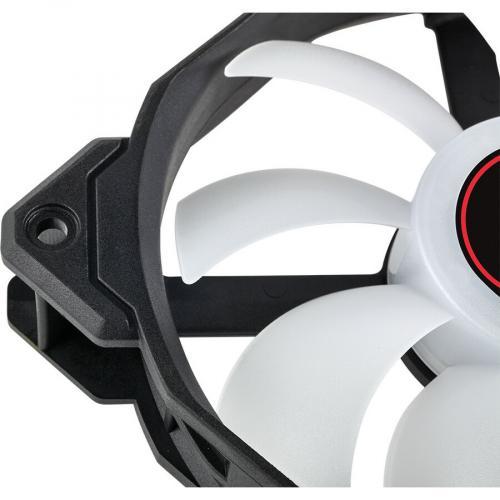 AF120 LED SINGLE PACK LOW NOISE COOLING FAN RED Alternate-Image3/500