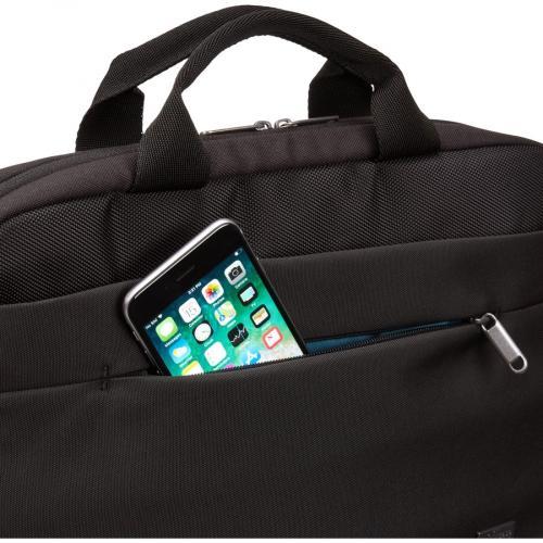 "Case Logic Advantage Carrying Case (Attaché) For 14"" Notebook, Tablet PC, Pen, Portable Electronics, Cord, Cellular Phone, File   Dark Blue Alternate-Image3/500"