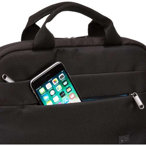 "Case Logic Advantage Carrying Case (Attaché) For 11.6"" Notebook, Tablet PC, Pen, Portable Electronics, Cord, Cellular Phone, File   Dark Blue Alternate-Image3/500"