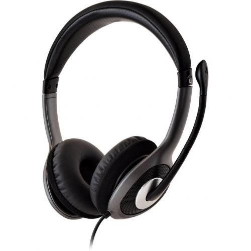 V7 Deluxe USB Stereo Headphones With Microphone Alternate-Image3/500