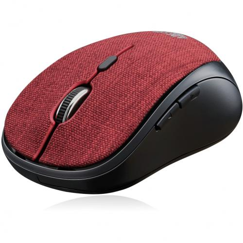 Adesso IMouse S80R   Wireless Fabric Optical Mini Mouse (Red) Alternate-Image3/500