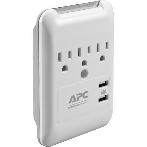 APC By Schneider Electric SurgeArrest Essential 3 Outlet Surge Suppressor/Protector Alternate-Image3/500