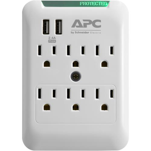 APC By Schneider Electric SurgeArrest Essential 6 Outlet Surge Suppressor/Protector Alternate-Image3/500